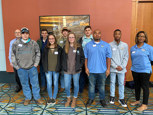 Career Tech Academy students and their instructors at the Get Into Energy Innovation Challenge kick-off held in Richmond on January 16, 2020.