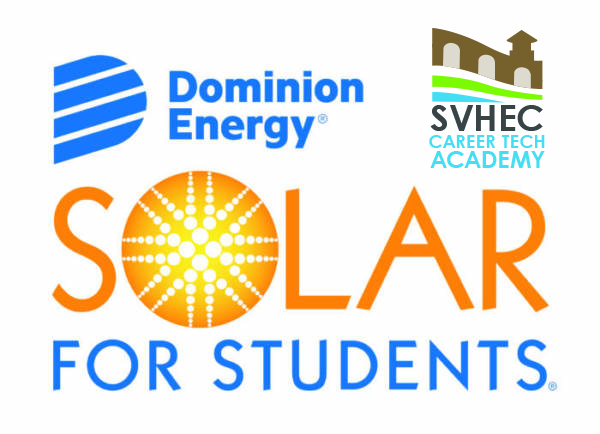Dominion Energy Solar for Students and SVHEC Career Tech Academy logos.