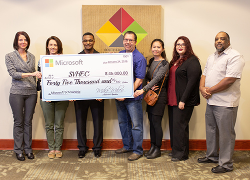 Microsoft's donation establishes the Datacenter Academy Scholars Program for IT Academy students.