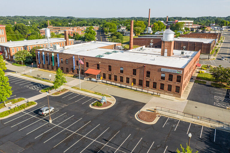 Aerial image of the SVHEC's 820 Bruce Street Building.