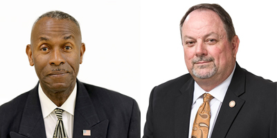 Headshot of Hubert Pannell on the left and John Lee on the right