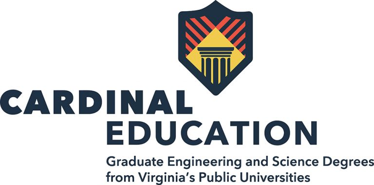 graphic with the following text Cardinal Education Graduate Engineering and Science Degrees from Virginia's Public Universities