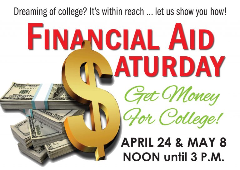 Financial Aid Saturday April 24 May 8 2021